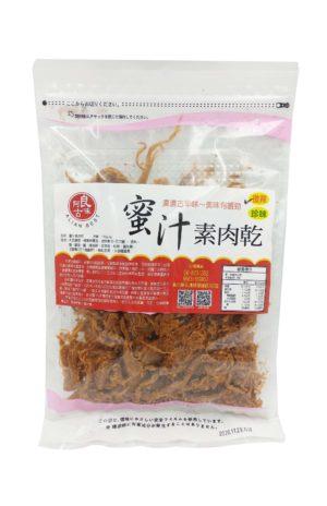 蜜汁素肉乾/食之如肉乾彈口有嚼勁/全素食/台灣製造/越吃越涮嘴