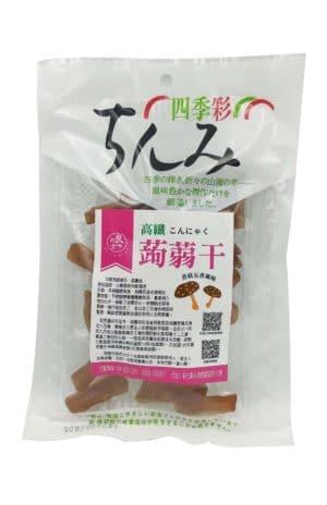蒟蒻干/口感扎實/能增加飽足感/頂級蒟蒻粉精製而成/咀嚼中散發淡淡香甜